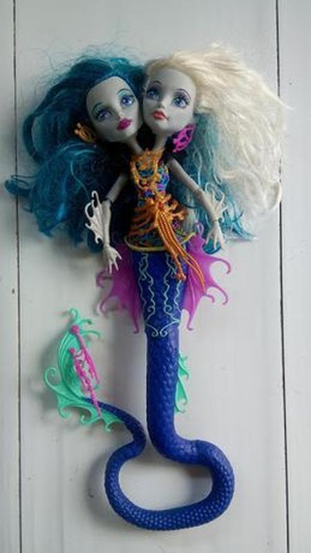 Кукла Монстр Хай Маттел mattel Пери и Перл двухголовая Monster... - Фото 5