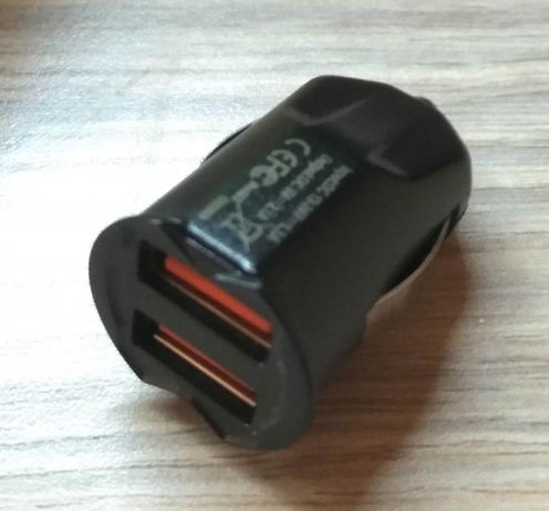 Миниатюрное автомобильное зарядное устройство с 2 портами - Фото 2