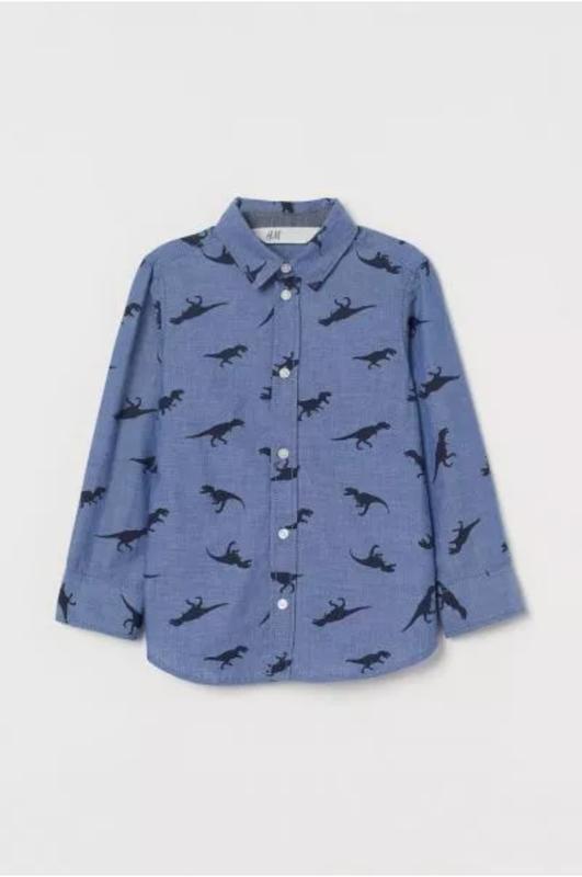 Стильная коттоновая рубашка для мальчика h&m