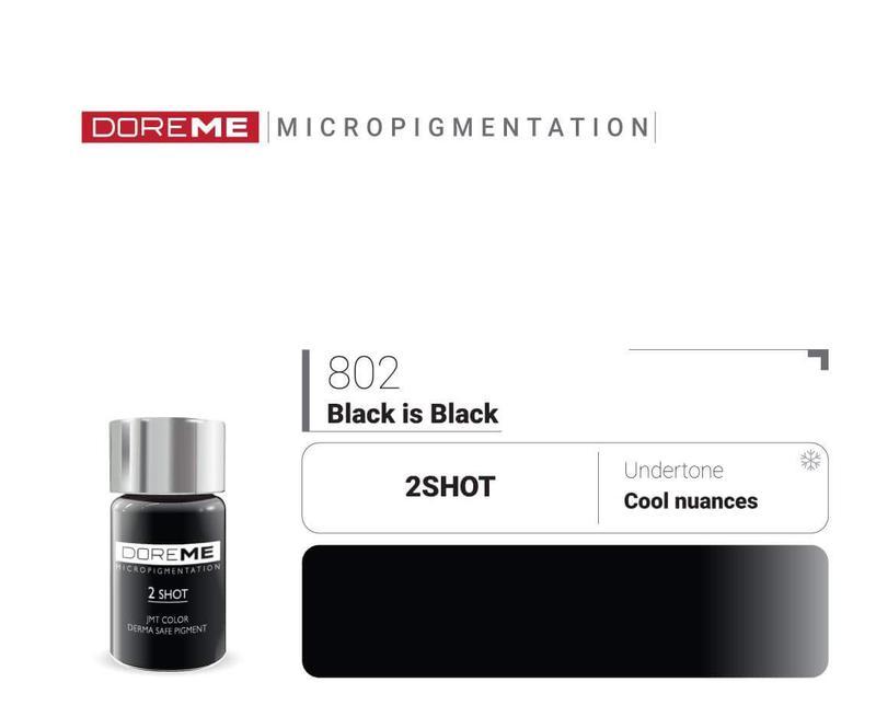 Пигменты для татуажа 802 Black is Black Doreme 2Shot Pigments