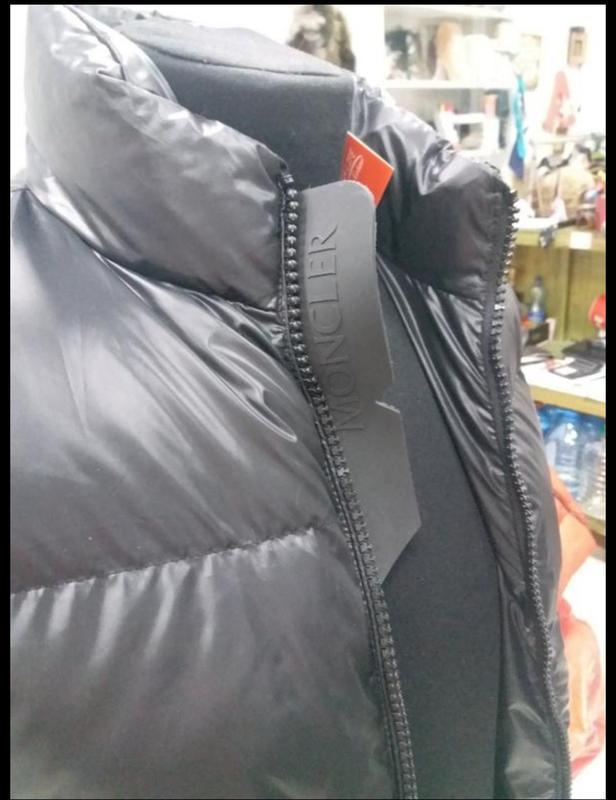 Мужская теплая куртка. пуховик мужской  moncler - Фото 4