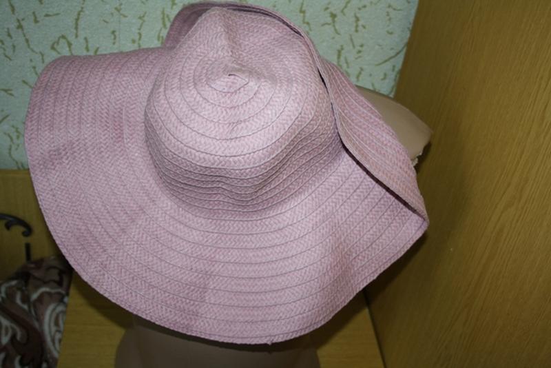 Красивая шляпа с полями 58 см - Фото 2