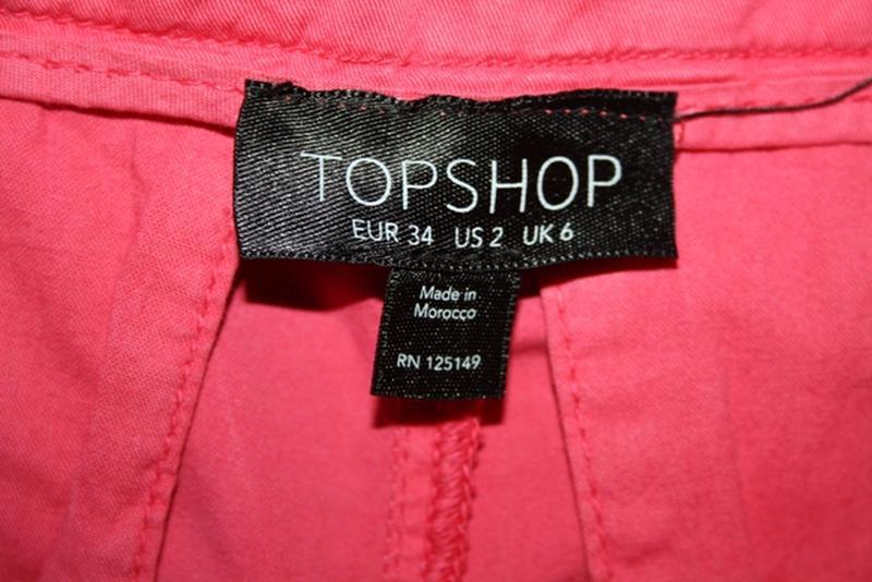 Розовые брюки чиносы, на высокий рост,s Topshop - Фото 4