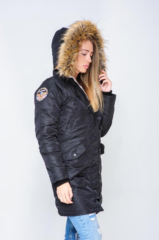 Жіноча Аляска Olymp N-3B Slim Fit, Black - Фото 8