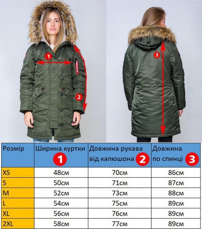 Жіноча Аляска Olymp N-3B Slim Fit, Black - Фото 4