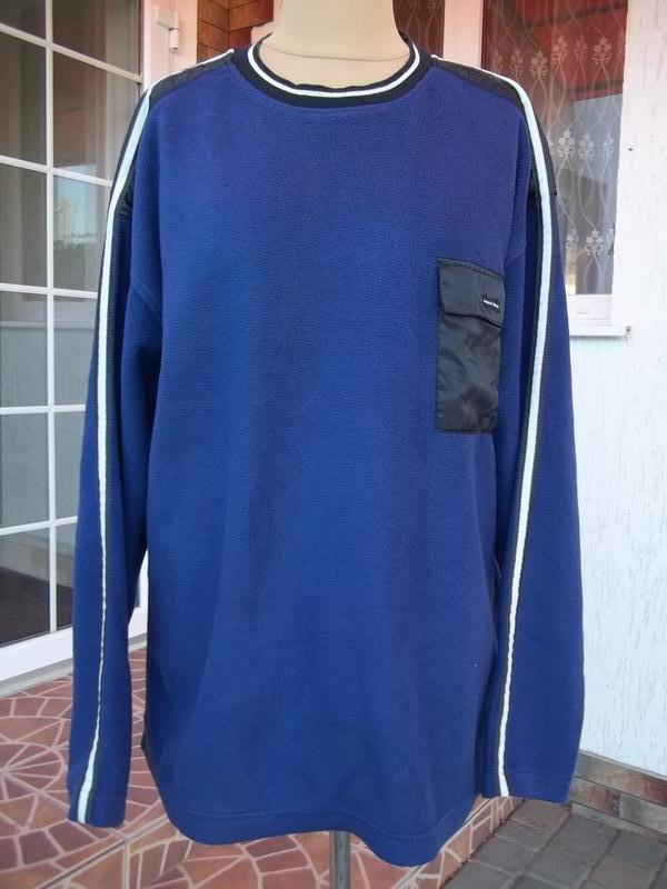(50/52 р) флисовый свитер кофта джемпер мужской