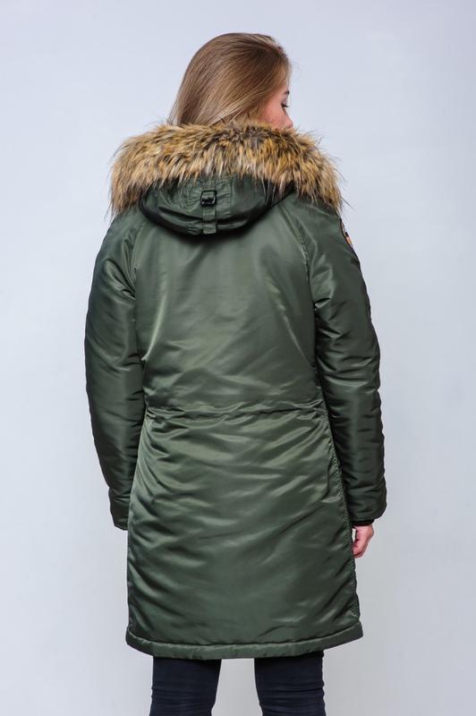 Жіноча Аляска Olymp N-3B Slim Fit, Khaki - Фото 7