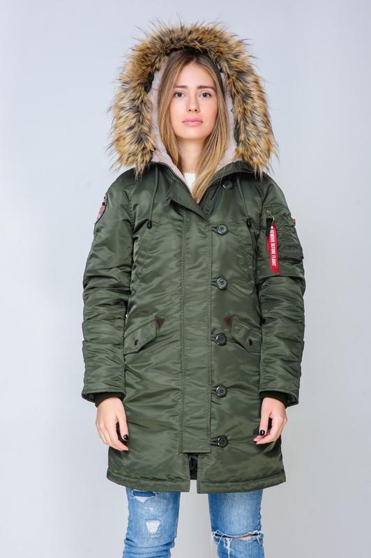 Жіноча Аляска Olymp N-3B Slim Fit, Khaki - Фото 6