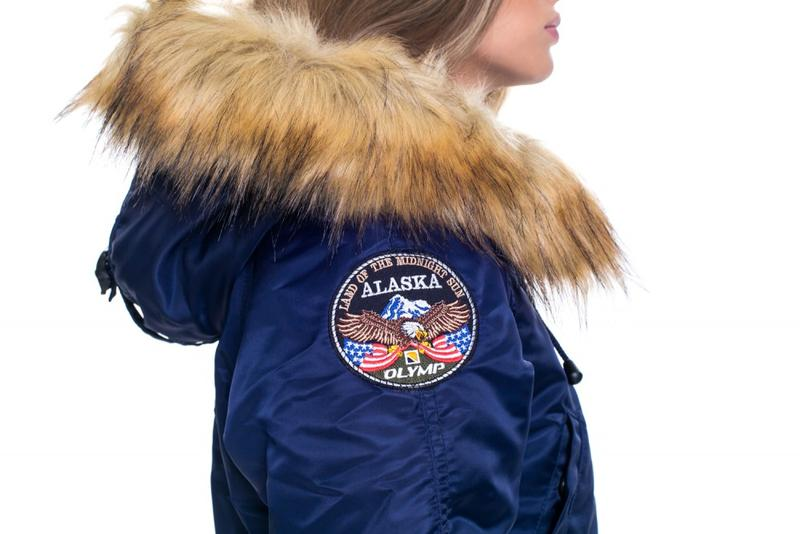 Жіноча Аляска Olymp N-3B Slim Fit, Navy - Фото 5