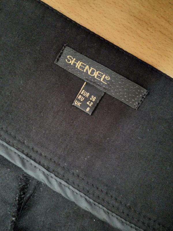 Расклешенные стильные брюки с высокой посадкой. - Фото 8