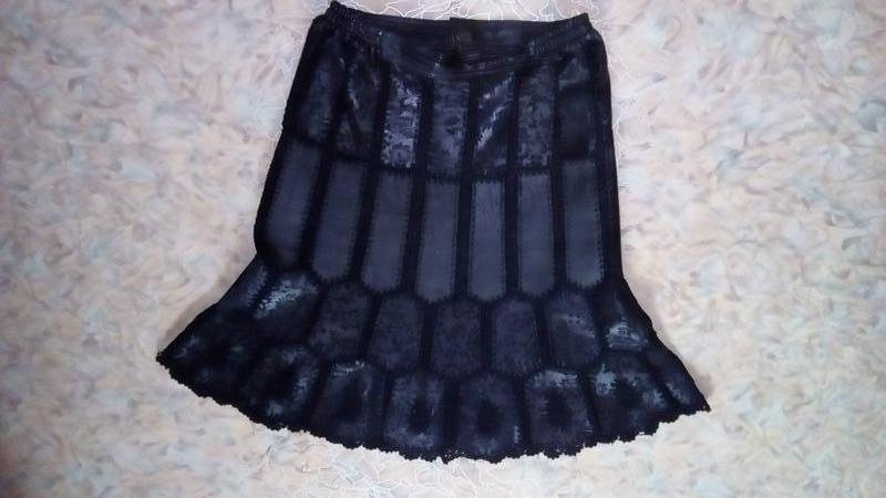 Красивая юбка из 100 %  мягенькой кожи с лазеркой/юбка кожаная... - Фото 2