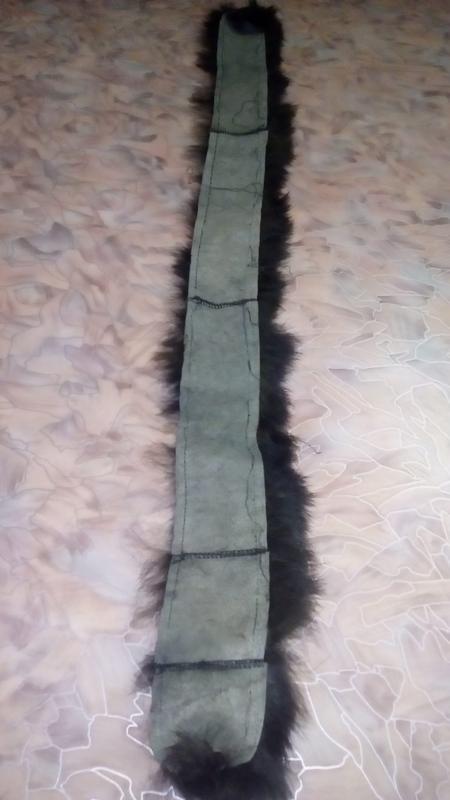 Натуральный мех изумрудного цвета//хвост/меховая шапка/песцова... - Фото 8