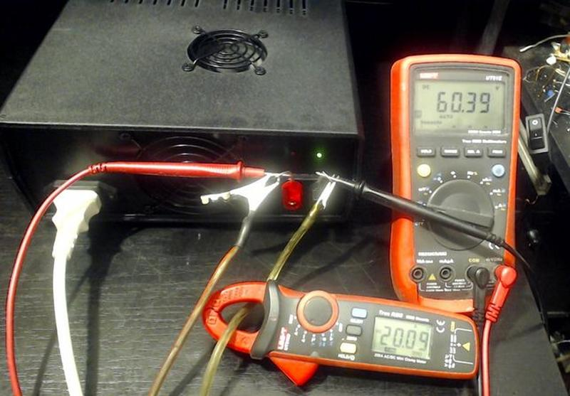 Лабораторный блок питания 0-50 Вольт, 0-20 Ампер =1000Wt. - Фото 5