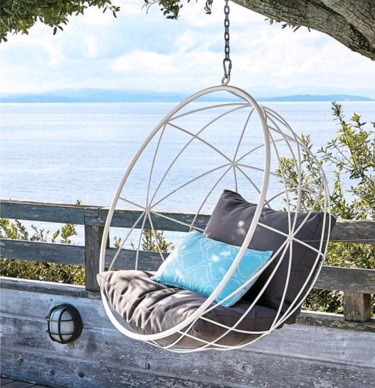 Подвесное кресло кокон шар качалка  в стиле лофт Лофт - Фото 5