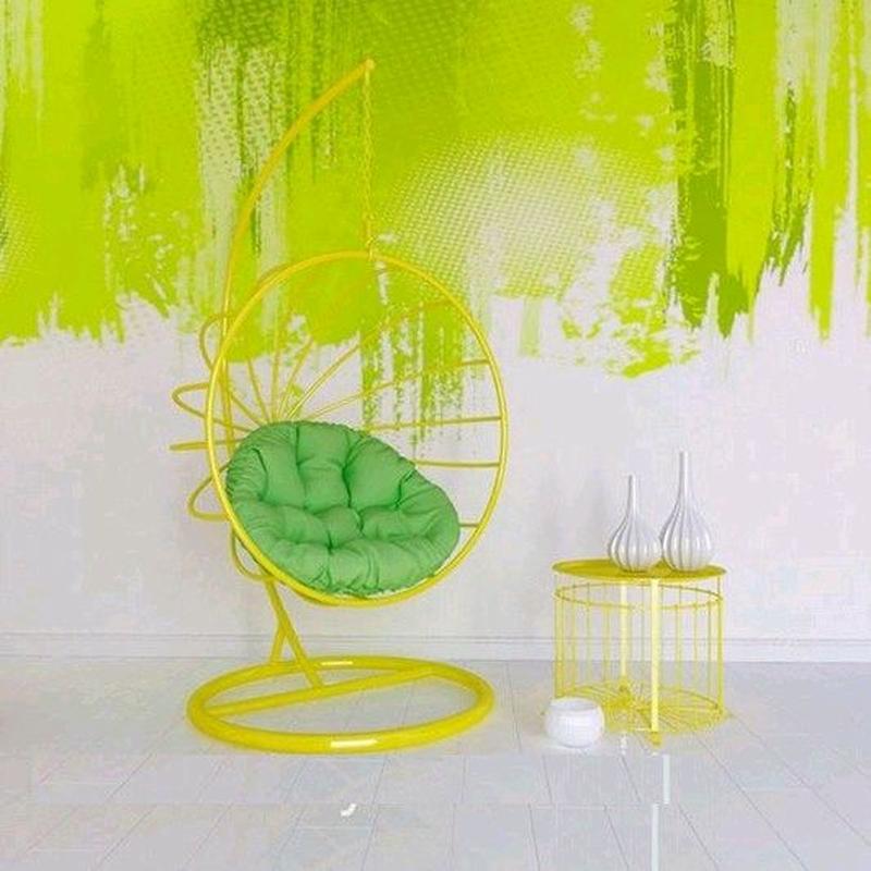 Подвесное кресло кокон шар качалка  в стиле лофт Лофт - Фото 19