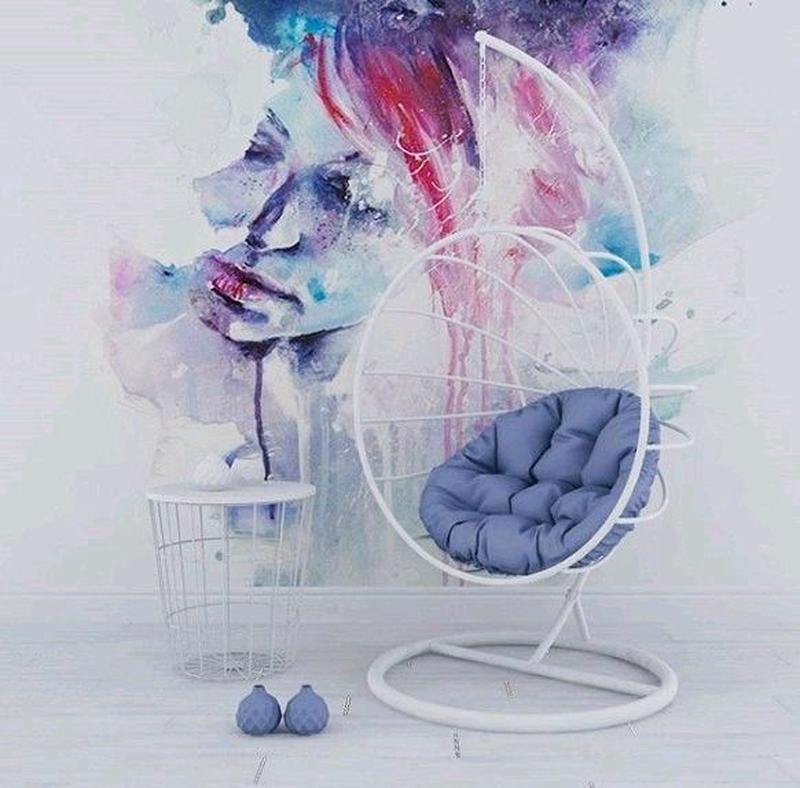 Подвесное кресло кокон шар качалка  в стиле лофт Лофт - Фото 20