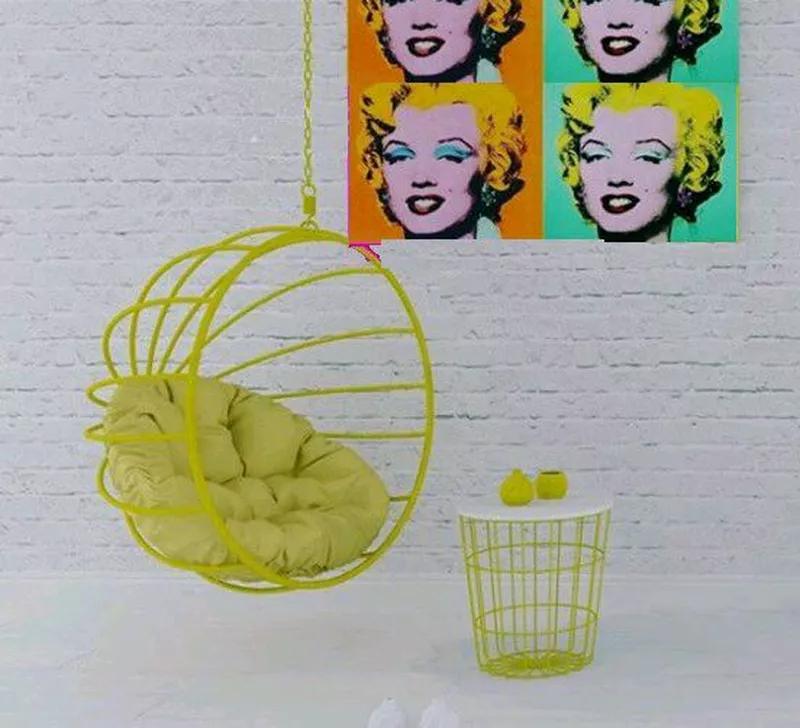 Подвесное кресло кокон шар качалка  в стиле лофт Лофт - Фото 11