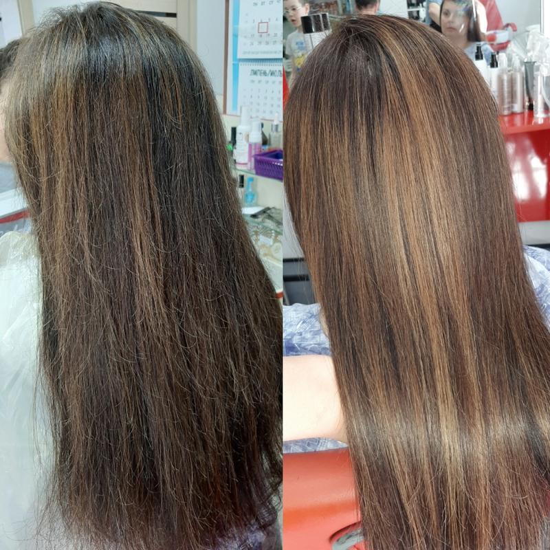 Кератиновое выравнивание волос,  ботокс.
