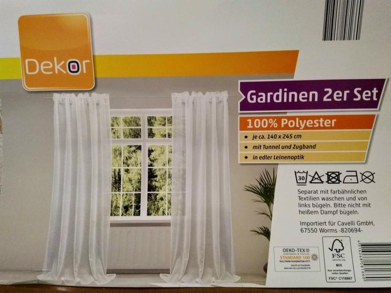 Гардина на окно тюль 2 шт. 140х245 см.