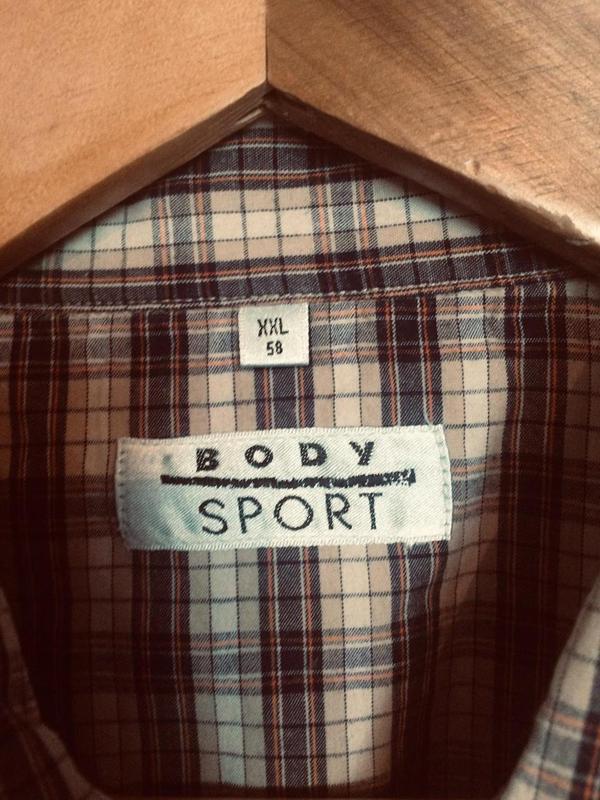 Стильная шведка,рубашка в клетку,хлопок,от бренда body sport - Фото 3
