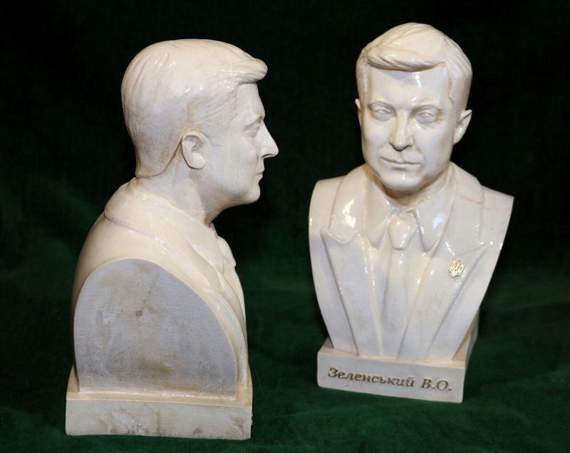 Бюст, скульптура В.О.Зеленского 23 см
