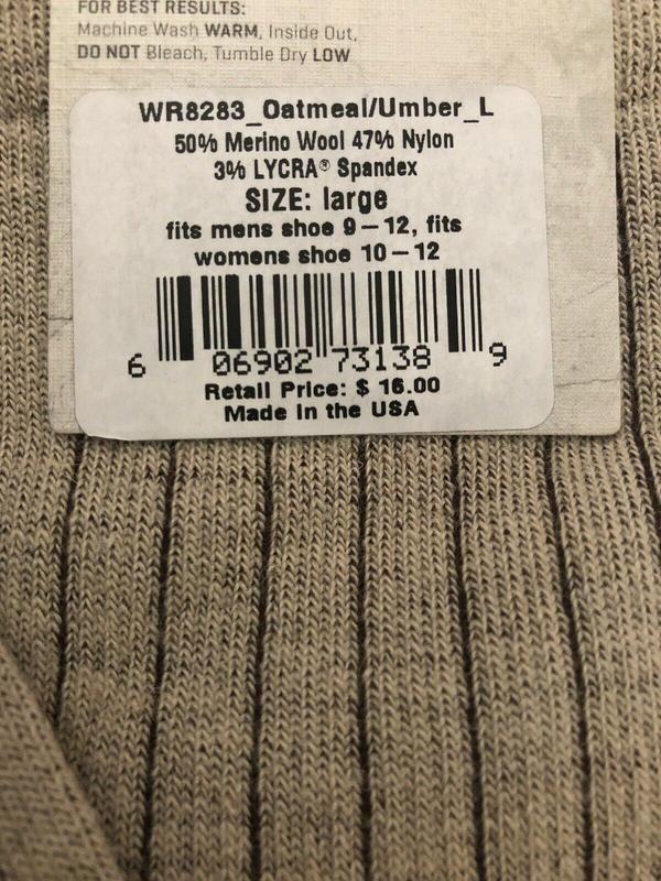 Носки с шерстью мериноса woolrich оригинал из сша - Фото 2