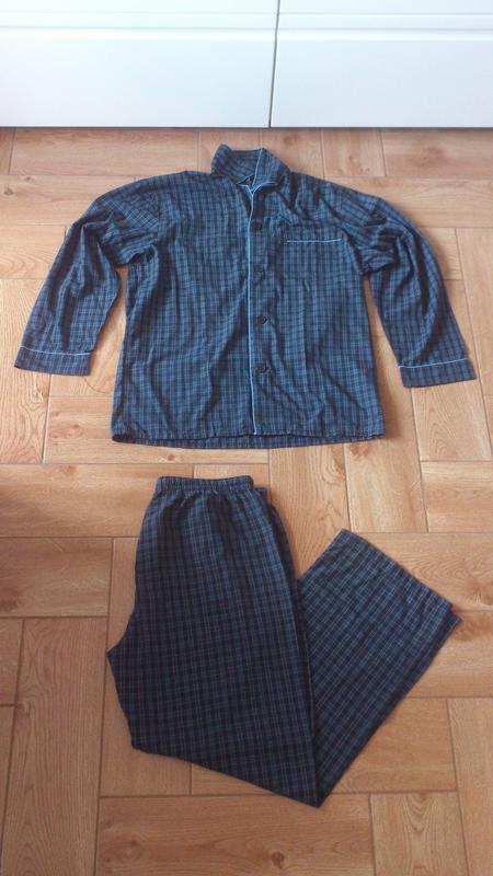 Пижама мужская в клетку wolsey піжама чоловіча класична пижамн...
