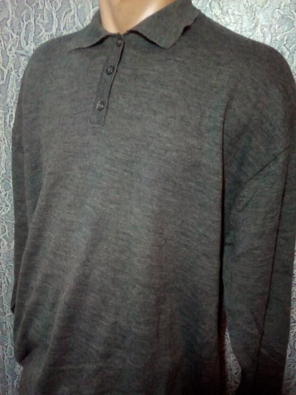 Теплый свитер с  шерсти мериноса. - Фото 2