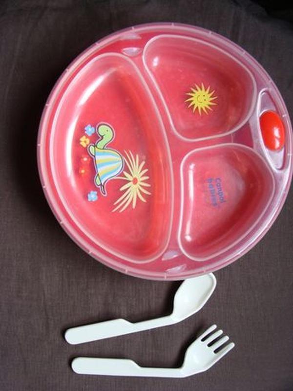 Тарелка с подогревом Canpol Babies (тарелка+ложка+вилка) почти...