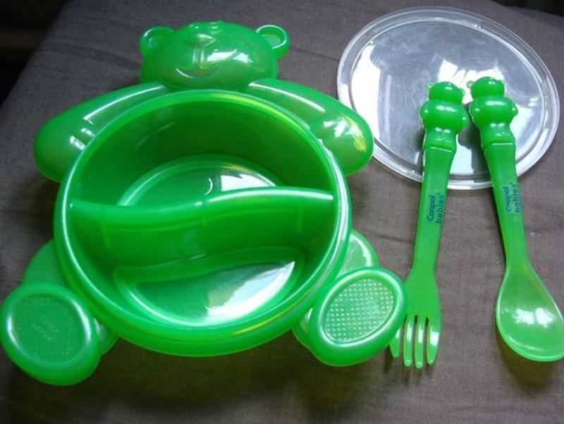 Тарелка Медвежонок Canpol Babies (тарелка+крышка+ложка+вилка)