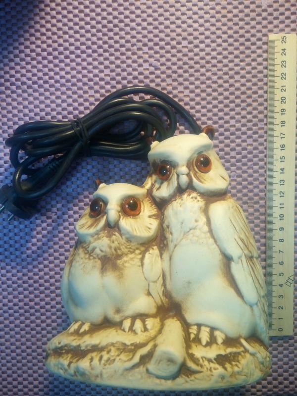 Керамическая сова-ночник