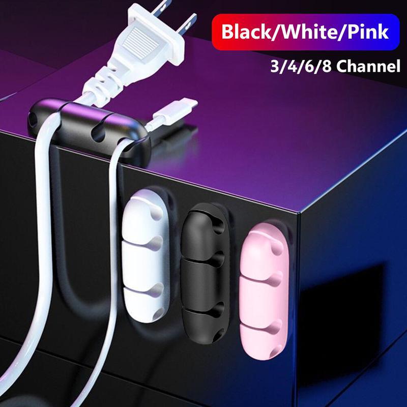 Органайзер - держатель для кабелей, проводов, шнуров на 4 ячейки