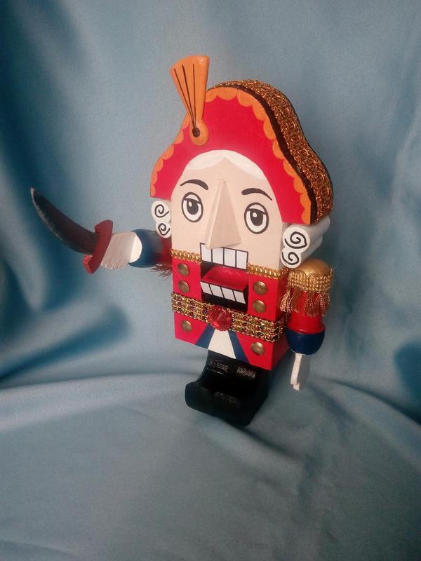 Деревянная кукла-орехокол Щелкунчик (из м/ф 1973 года) - Фото 4