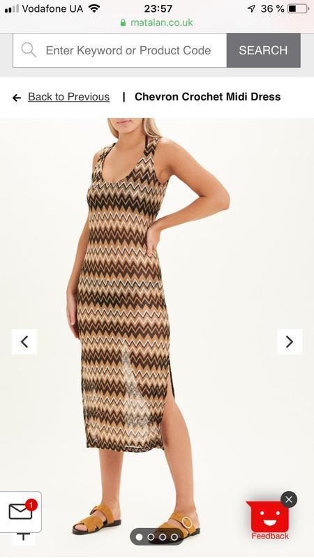 Платье летнее matalan как вязанное, очень крутое