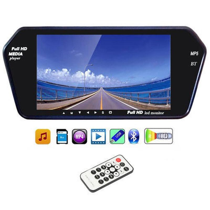 Зеркало заднего вида автомобиля 7 дюймов Full HD с сенсорным экра - Фото 4