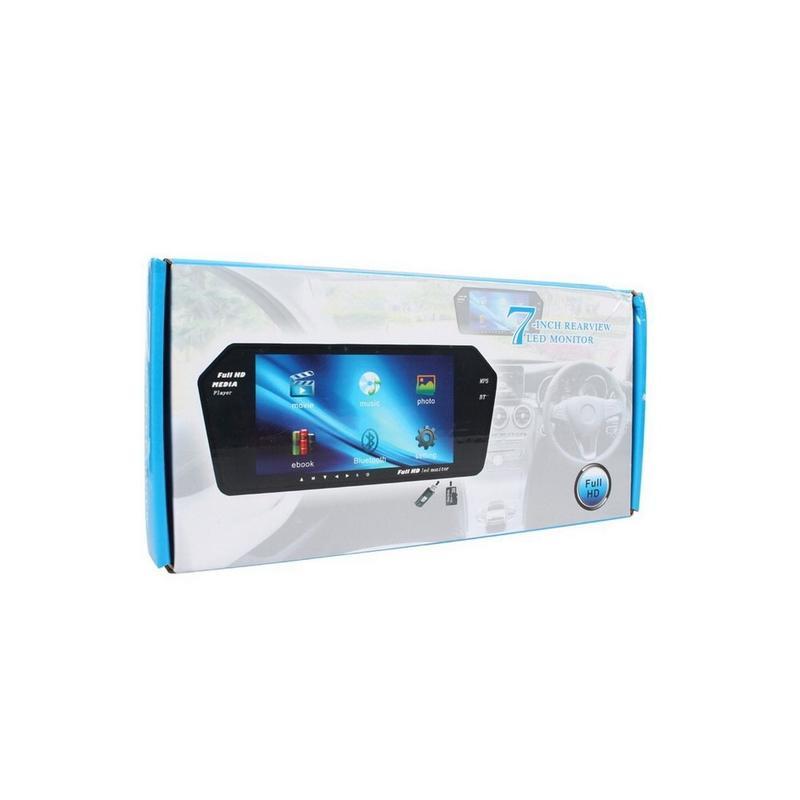 Зеркало заднего вида автомобиля 7 дюймов Full HD с сенсорным экра - Фото 5