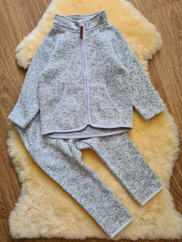 Флисовый костюм для мальчика h&m 1.5-2 г 92 см вязаный костюм ...