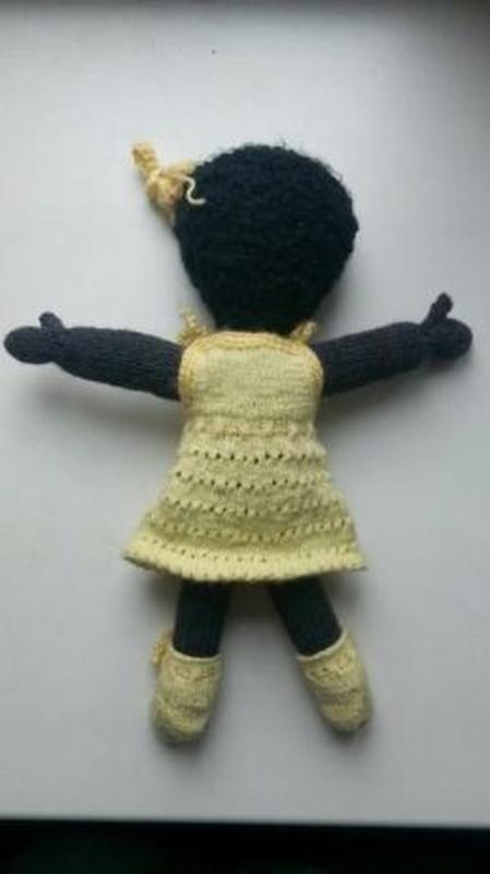 Кукла сувенир вязаная мягкая интерьерная хенд-мейд - Фото 2