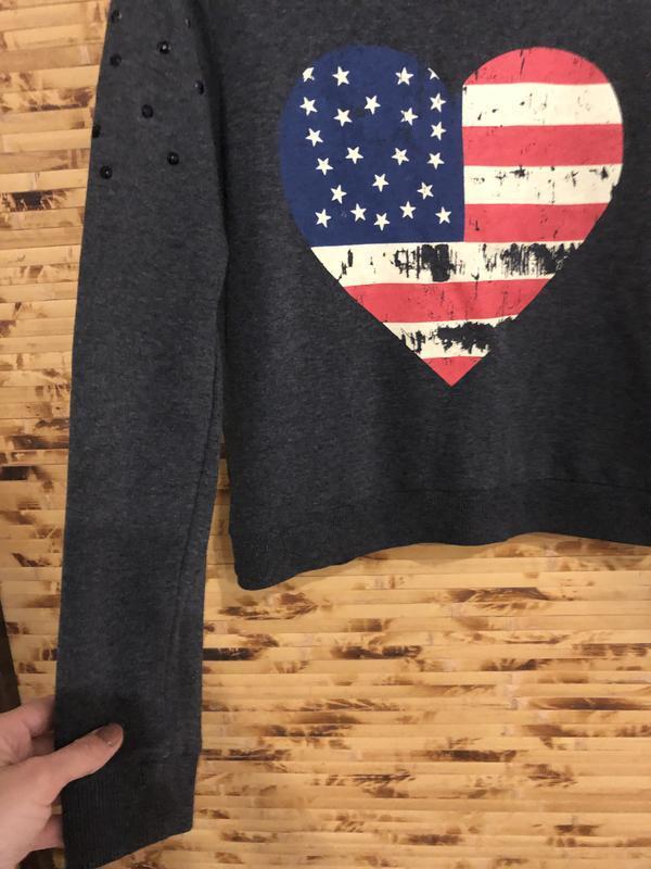 Джемпер пуловер свитер h&m темно-серого цвета с рисунком - Фото 3