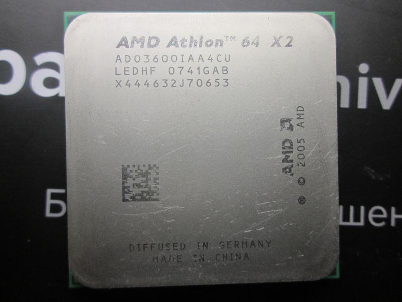 AMD Athlon-64 X2 3600+ Socket AM2 2.0 ГГц/L2 256Кбx2/2000 МГц