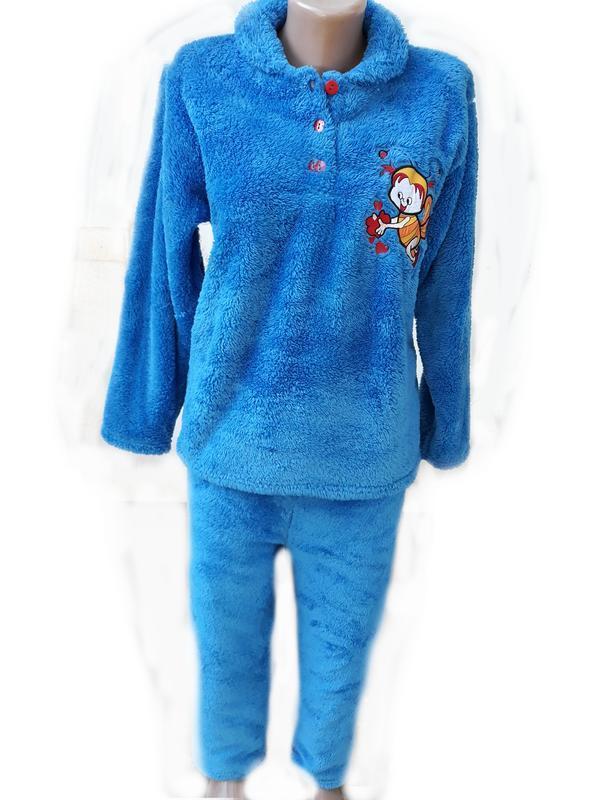 Пижамы женские теплые! софт,махра,100% хлопок(махра).vanora ту...