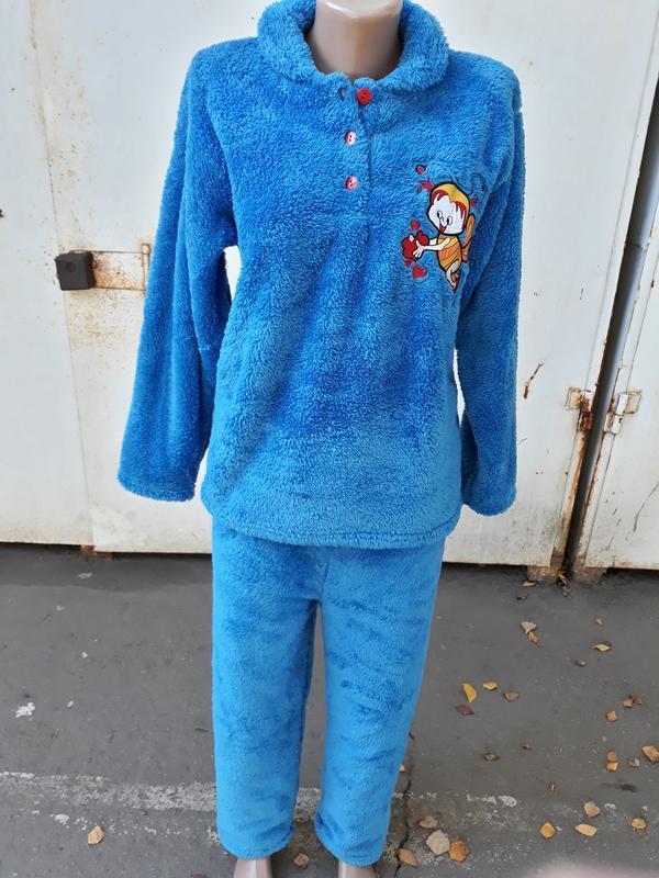 Пижамы женские теплые! софт,махра,100% хлопок(махра).vanora ту... - Фото 2