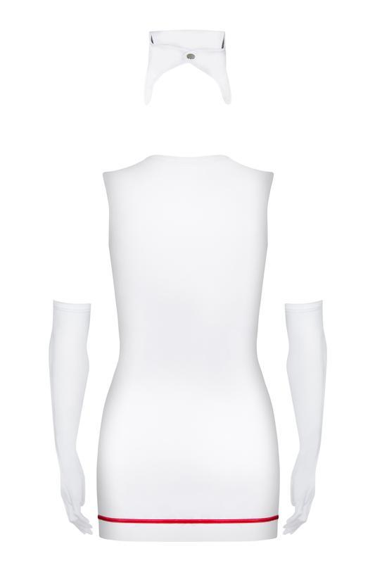 Emergency dress obsessive белый костюм медсестры для ролевых игр - Фото 3