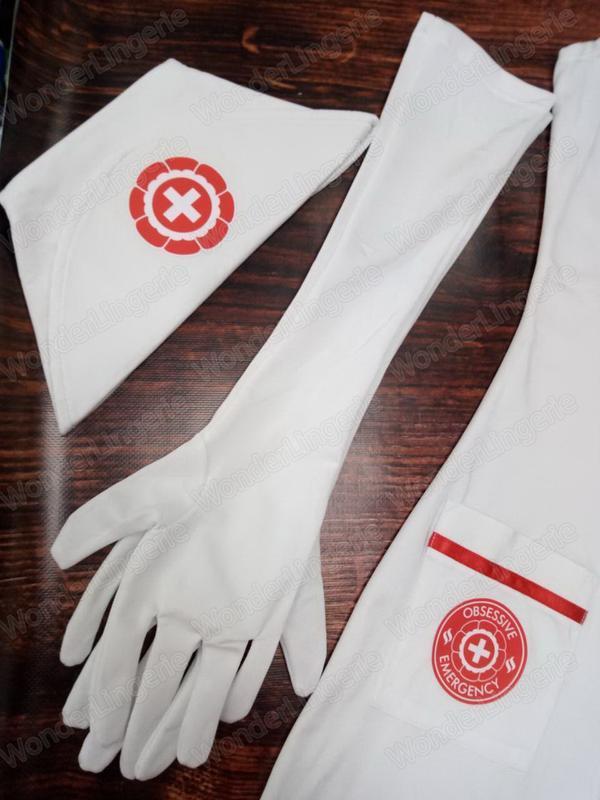 Emergency dress obsessive белый костюм медсестры для ролевых игр - Фото 7