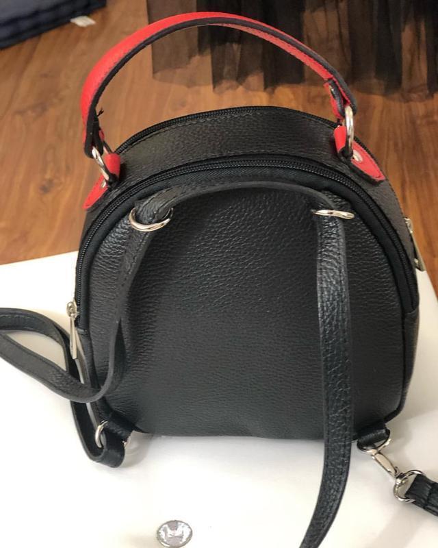 Кожаный рюкзак-сумка (италия) - Фото 2