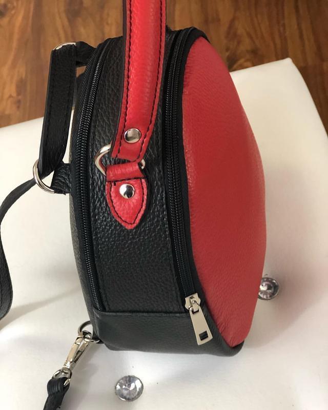 Кожаный рюкзак-сумка (италия) - Фото 3