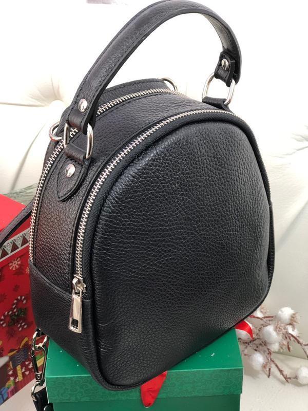 Кожаная сумка рюкзак италия