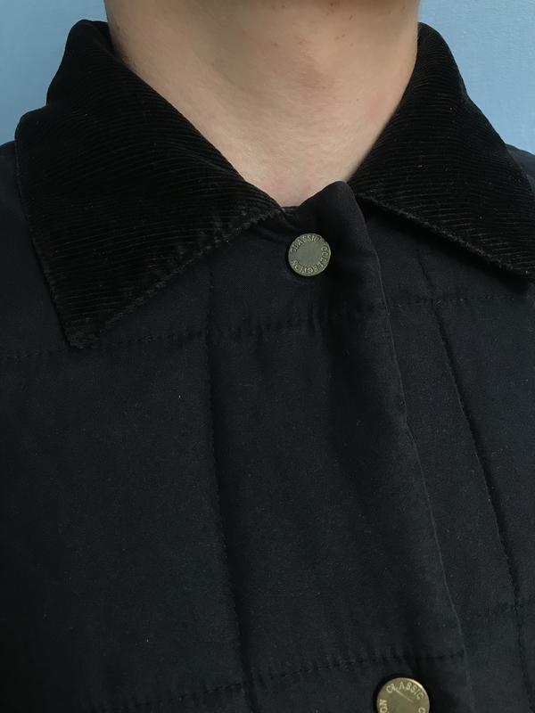 Курточка мужская осеняя чёрная стёганая размер с - Фото 4