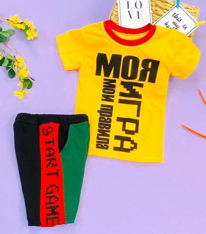 Акция до 06/08! летний костюм двойкадля мальчика (футболкаи ...