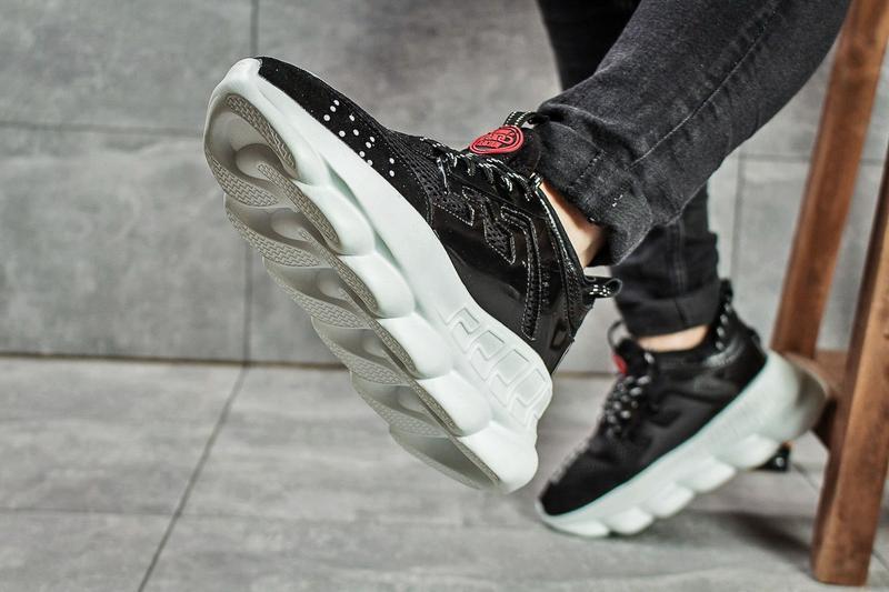 Кроссовки в стиле versace chain reaction. - Фото 4